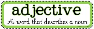 adjective noun